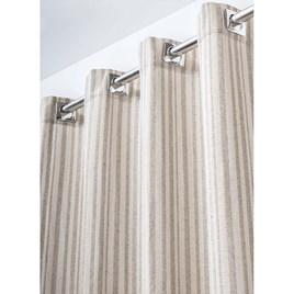 Cortina Basco 0001 Bege 2,30X2,60M - BecaDecor